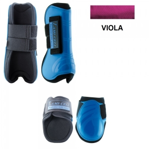 Lami-cell tendon boots and fetlock made with Neoprene Mirage collection Yellow color