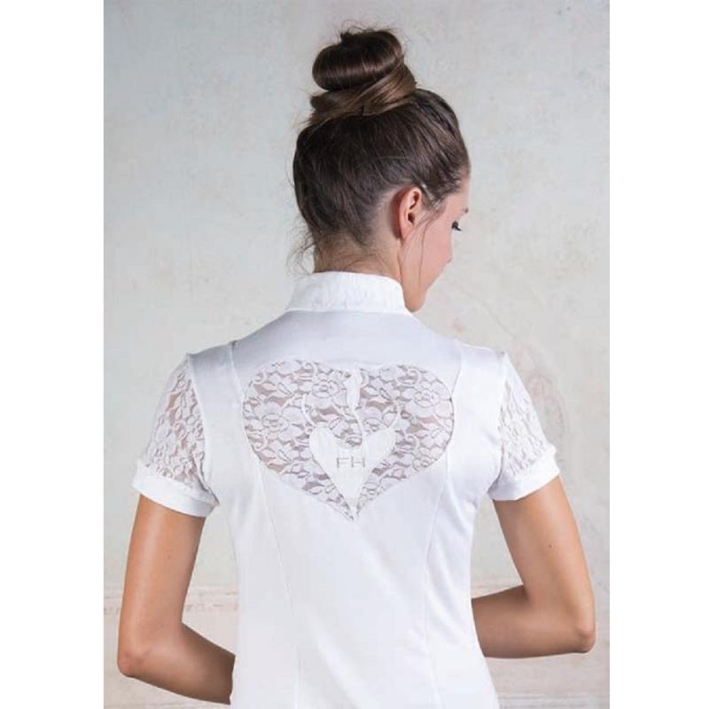 For Horses maglietta con collo alla coreana modello Luna