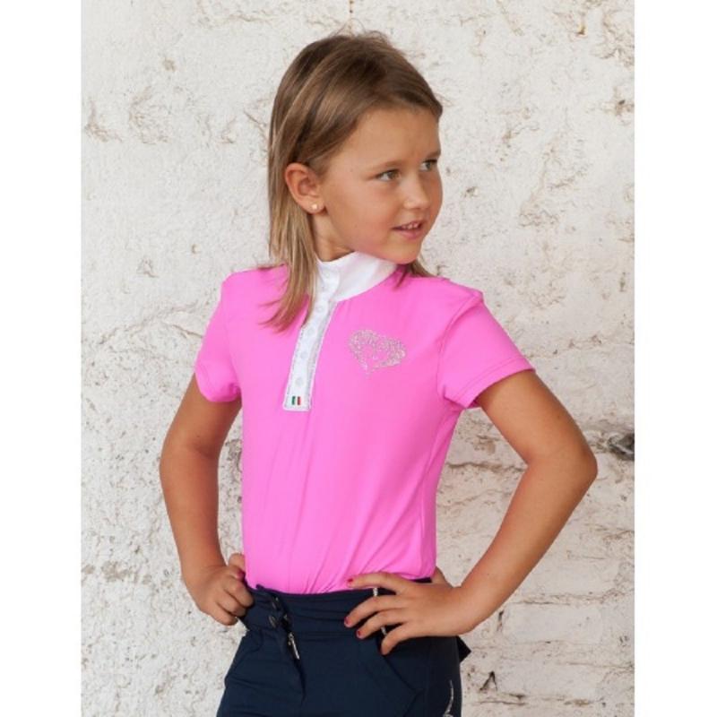 For Horses maglietta da bambina tecnica da equitazione modello Molly