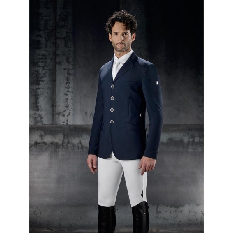 Equiline giacca da concorso uomo modella Rack colore Blu