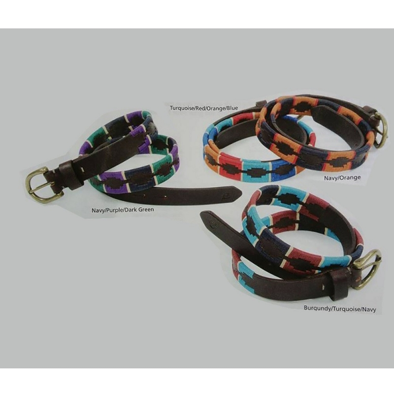 Shires cintura in cuoio e tessuto vari colori