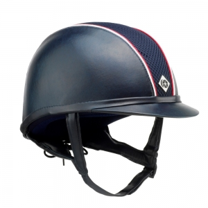 Charles Owen Equitation cap   Ayr 8 model with colored piping