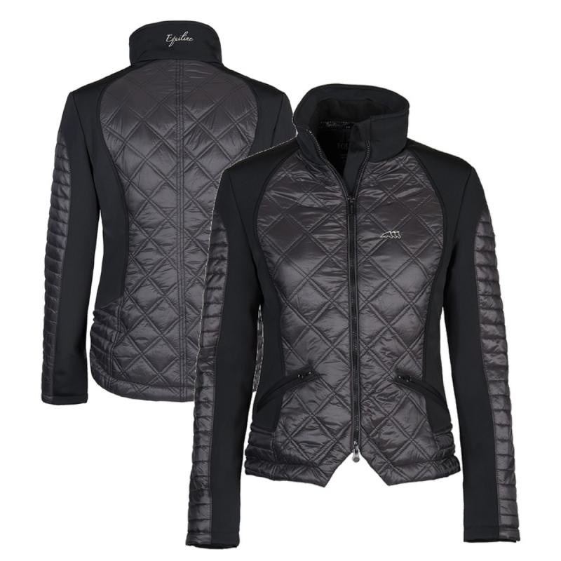 Equiline giacca da donna imbottita modello Crystal colore nero