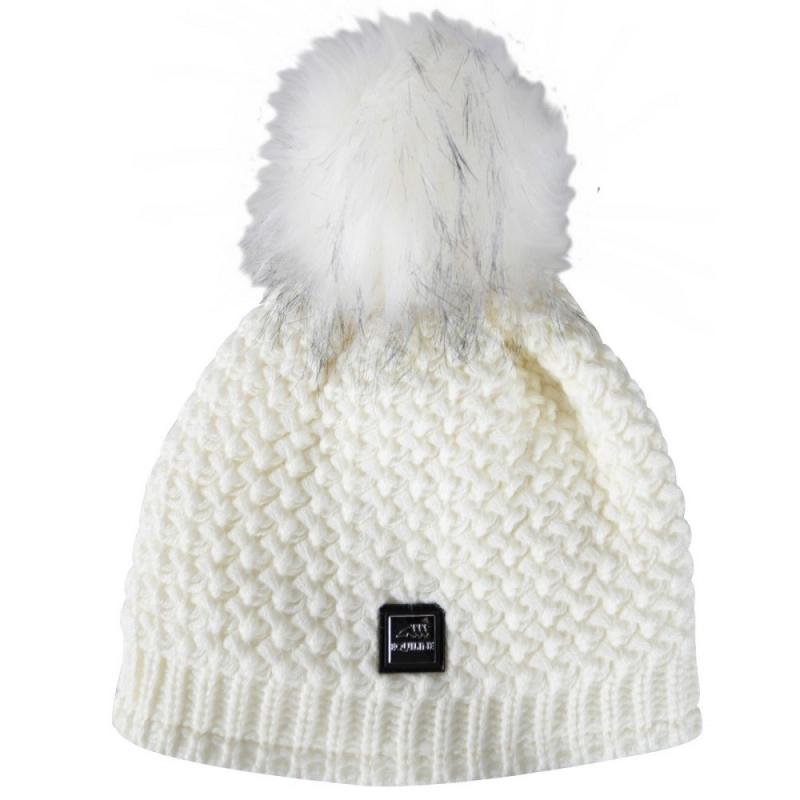 Equiline cappello da donna con interno di pile in tricot modello Twist colore grigio