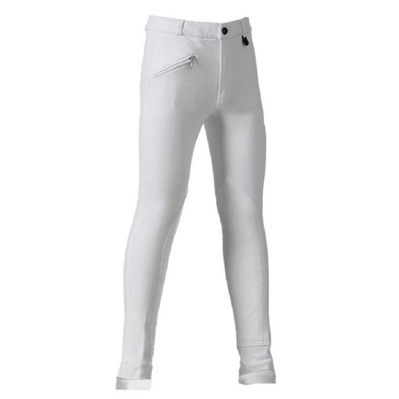 Daslo Pantalone Donna in cotone elasticizzato 360g aderente con toppe colore Blu Navy disponibile nelle taglie 38-40-42-44-46-48