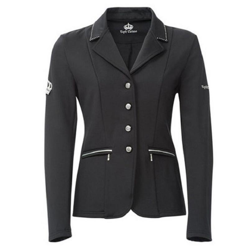 Ekkia Equi-Theme giacca da concorso modello cristal da donna tessuto tecnico softshell colore grigio