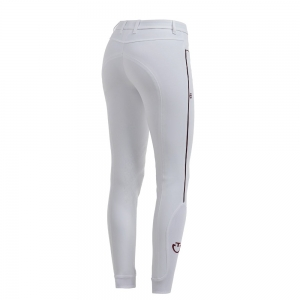 Cavalleria Toscana Equitation contest women trousers , white with black piping