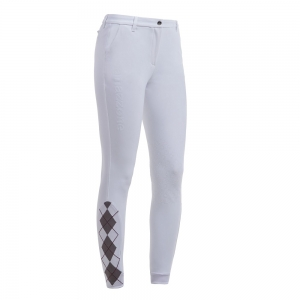 Cavalleria Toscana equitation contest white trousers  with the speach on the side