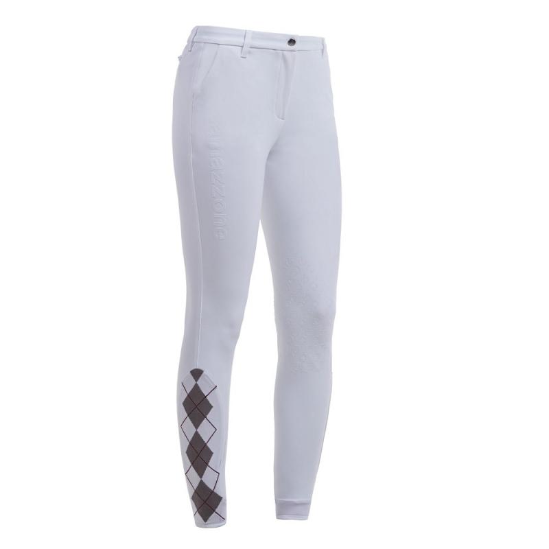 Cavalleria Toscana pantalone da equitazione bianco da concorso da donna con scritta laterale