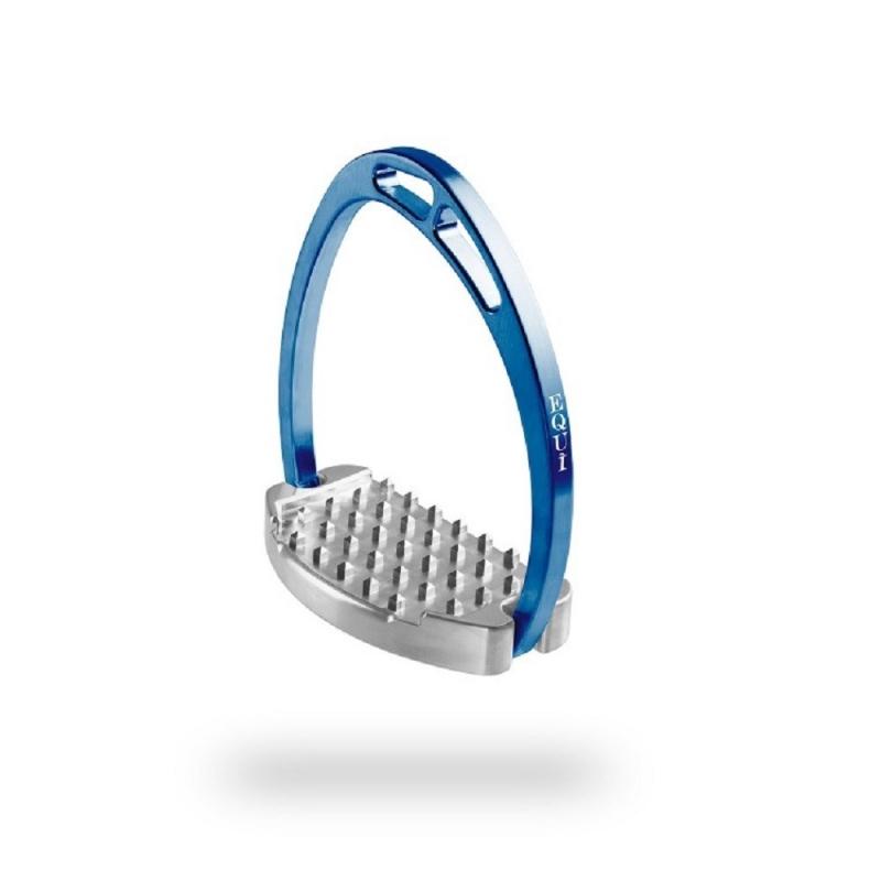 Equitaly staffe modello Plus Force in alluminio colore blu royal