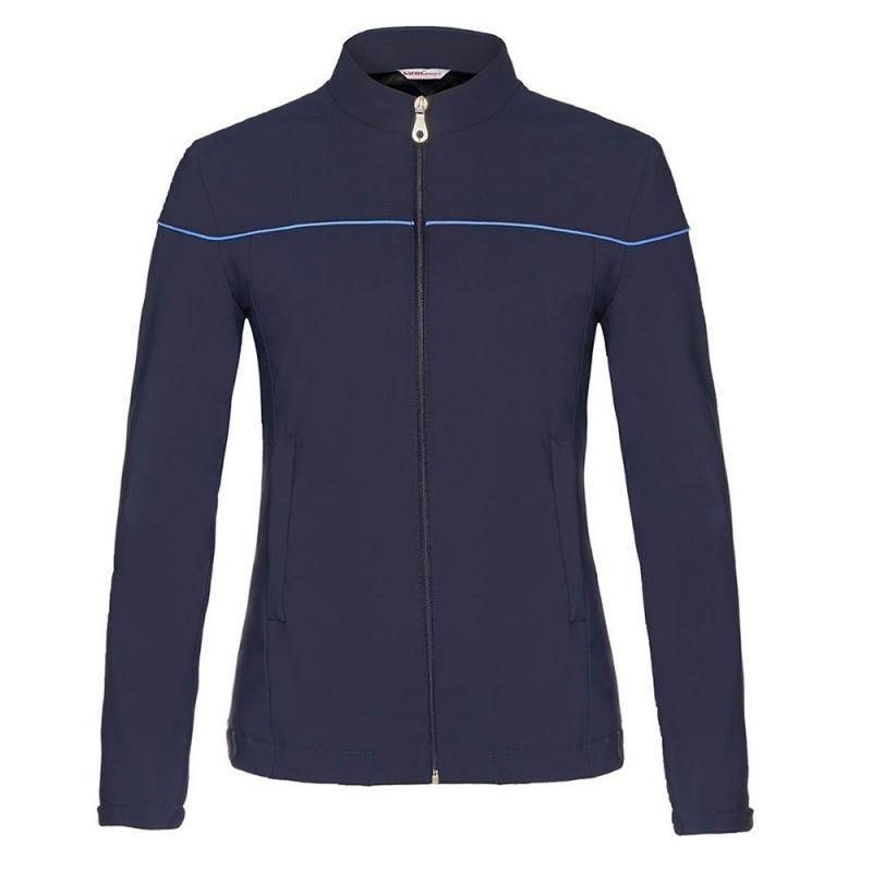 Sarm Hippique giacca da donna modello Telly in microfibra soft-shell in colore blu
