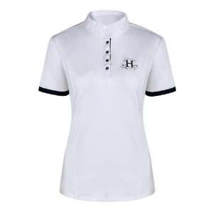 Harcour contest polo for woman  White color Lady model