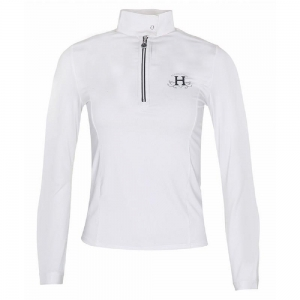 Harcour contest shirt for woman white color Amelia model