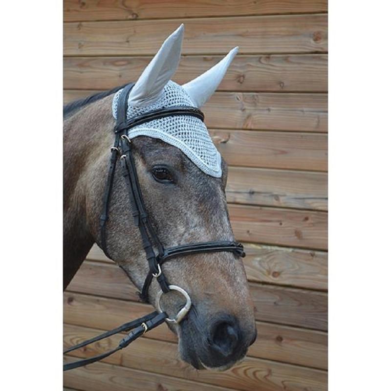 Harcour cuffietta modello Kannan per pony e cavallo colore grigio