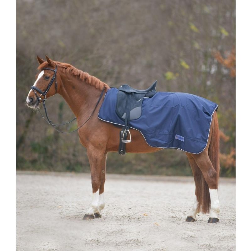 Waldhausen coprireni impermeabile per cavallo e pony colore blu