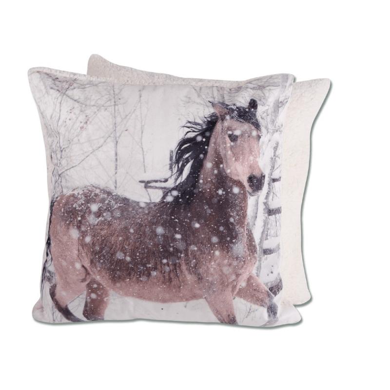 Waldhausen morbido cuscino a tema equitazione con cavallo intero