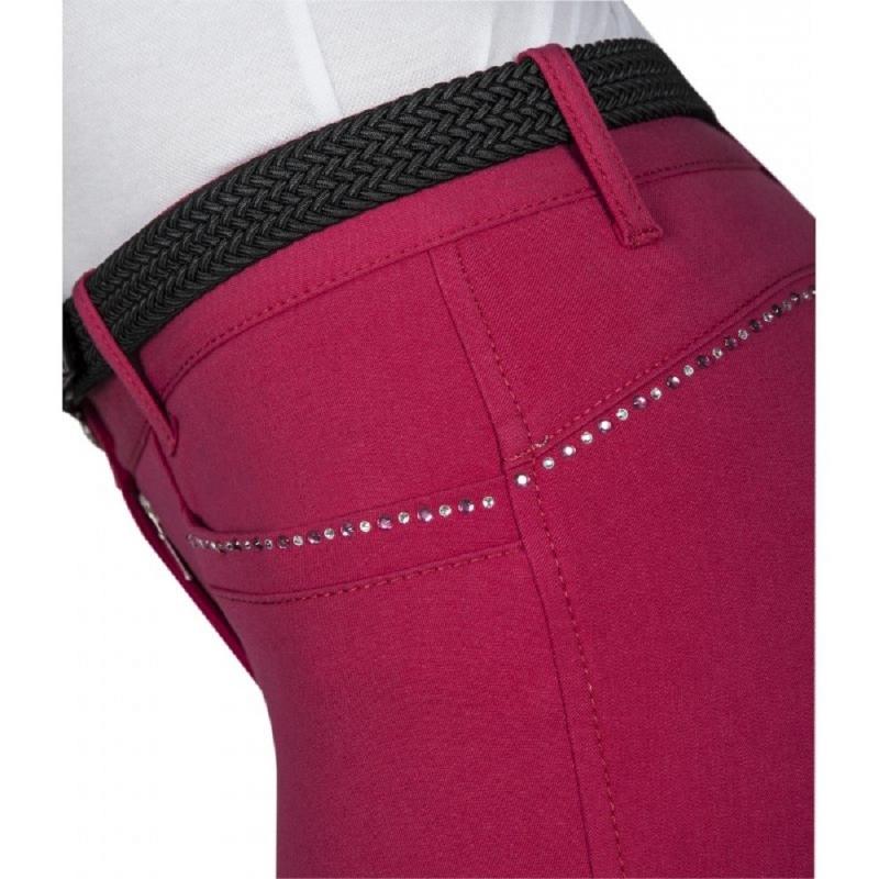 Equiline pantalone da donna modello Scila con grip al ginocchio colore bianco