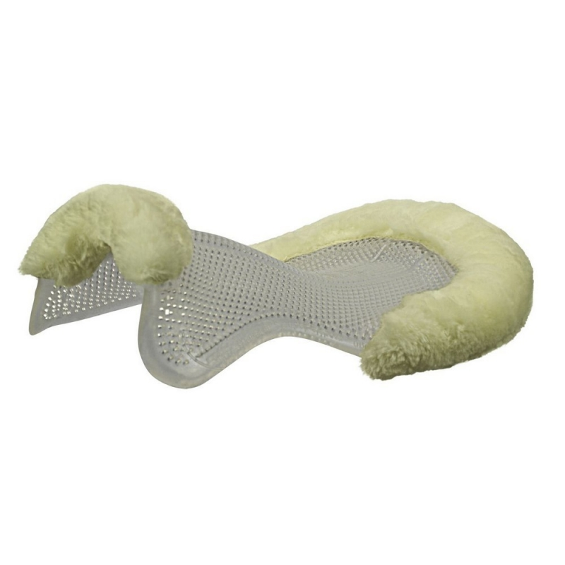 ACavallo Back Protection AC193-transparent - natural Therapeutic gel pad cut-out eco-wool just gel