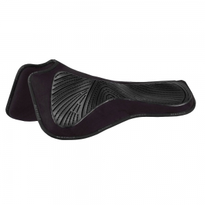 ACavallo Back Protection AC219-black - black withers free gel & memory foam half pads