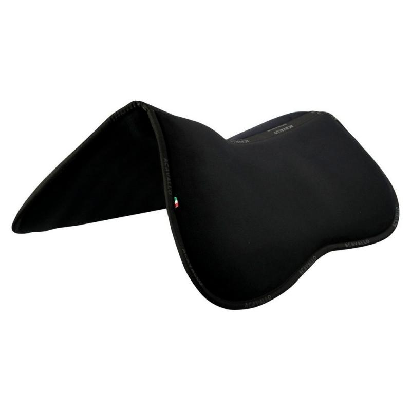 ACavallo Back Protection AC202-black memory foam half pad & rear riser