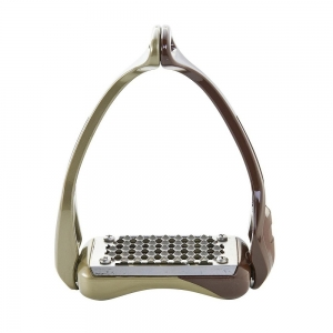 ACavallo Stirrups AC601-brown - titan. Gold Opera stirrups