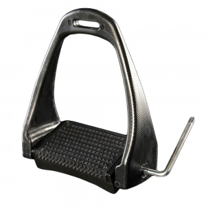 ACavallo stirrups AC610-black adjustable stirrup rubber pad