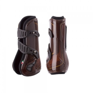 ACavallo boot & ankle AC686-brown - titan. Gold Serigraphed Opera front B. rubber & stud fast. Gel lined