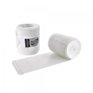 ACavallo bandages & underbandages AC702-white - transparent gel & fleece bandages (paar)