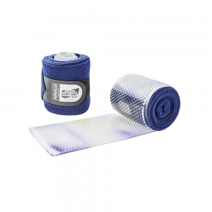 ACavallo bandages & underbandages AC702-bleu - transparent gel & fleece bandages (paar)