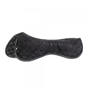 ACavallo Back Protection AC233-black Withers Free Close Contact & Memory Foam Half Pad Silicon Grip System
