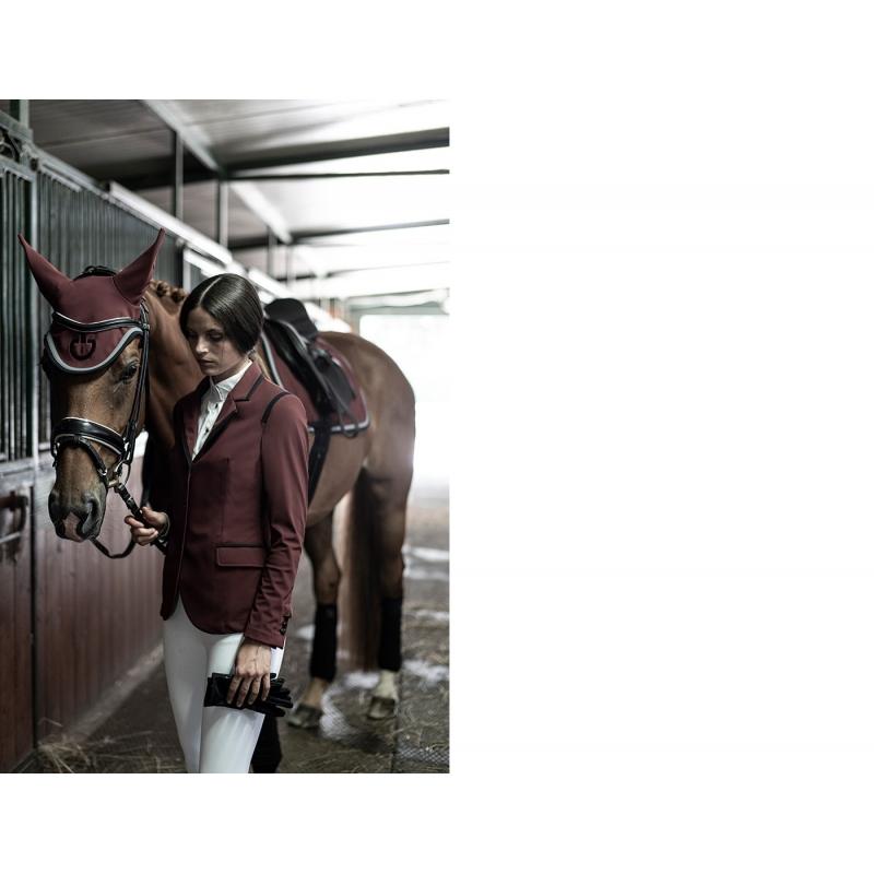 Cavalleria Toscana Giacca da concorso donna con profili neri