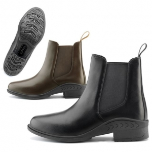 Daslo Equitation  Boots made with leather with elastic insert on the side