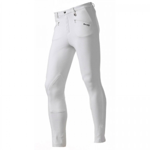 Daslo man trousers made by elastic cotton 360gr close-fitting with white patch