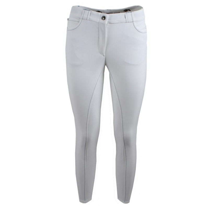 Sarm Hippique Pantalone donna modello Dakota full Grip 09 EM2M2G Colore Bianco