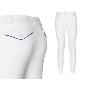 Sarm Hippique equitation women trousers  Olbia model Grip 09I White