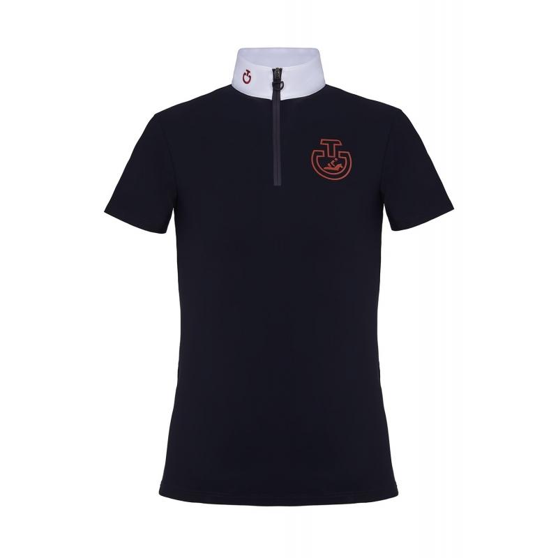 Camicia per bambina in jersey tecnico a maniche corte Cavalleria Toscana