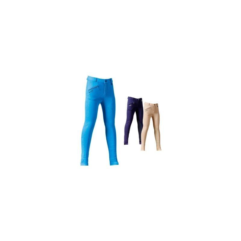 Daslo Pantalone Bambino in cotone elasticizzato 360g aderente con toppe colore Beige
