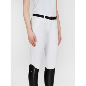 Equiline women trousers X Shape model with grip White color