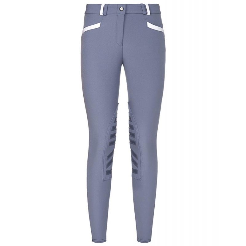 Sarm Hippique pantalone da equitazione invernale modello Stacy con grip da donna colore avio