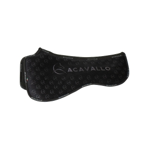 ACavallo Back Protection AC234-black Withers Free Close Contact & Memory Foam Half Pad Silicon Grip System Dressage