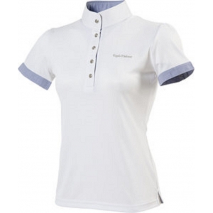 Ekkia T-shirt Polo model Sky white with blu contrasts