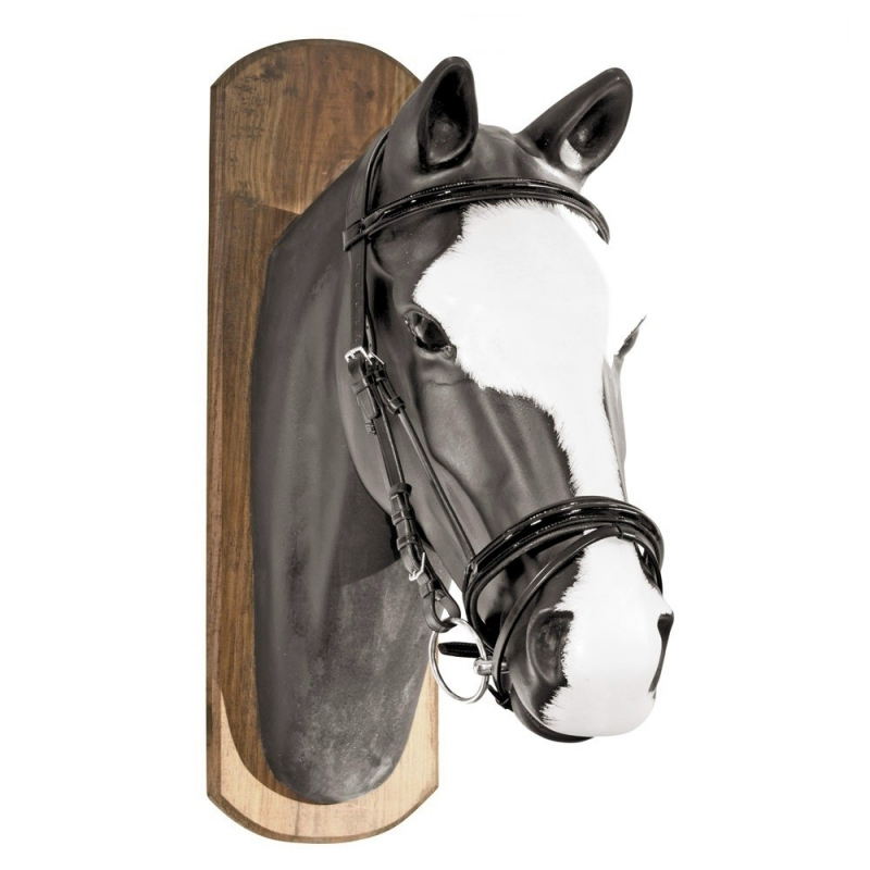 Equestro Testiera in cuoio italiano con frontalino e capezzina in vernice