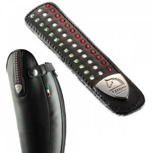 Tattini Tattini interchangeable strap Italian flat model  with strass
